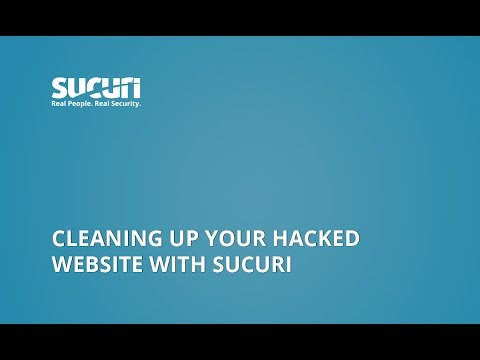 Cleaning up your hacked website with Sucuri