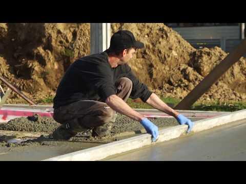 Passive Home Construction in Port Alberni BC Canada the concrete slab