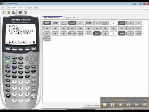 Ti-84 - Linear Regression