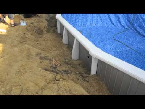 Semi Inground Swimming Pool Installation