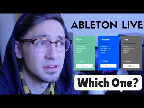 Which Ableton Live Should You Buy? Intro? Standard? Suite?