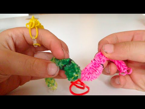 NEW DESIGN - Make a loom band snake on your fingers without a loom
