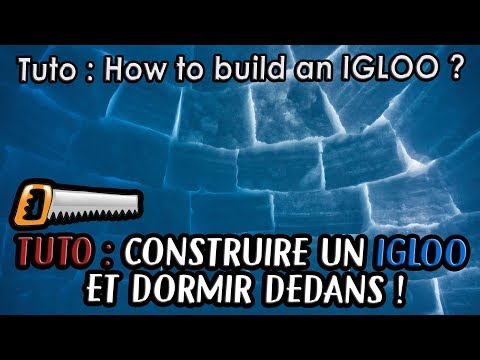 ⛄️ TUTO - HOW TO BUILD AN IGLOO ? COMMENT CONSTRUIRE UN IGLOO ? Norvège
