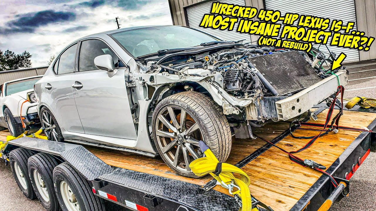 We Just Bought A WRECKED 450-HP Lexus IS-F For Our Most INSANE PROJECT EVER (NOT A REBUILD?!)