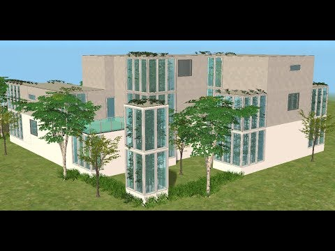 ♢ The Sims 2 ♢ Modern Glass And Bamboo House ♢