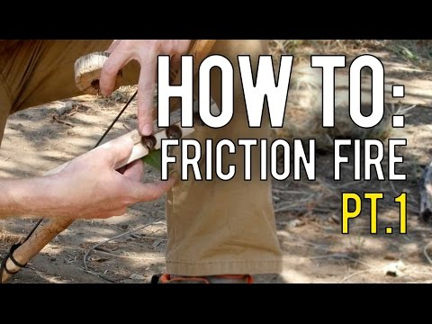 Making A Friction Fire In Nature Part 1: Materials