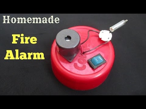 Fire Alarm - How to Make a Simple Fire Alarm for School Project