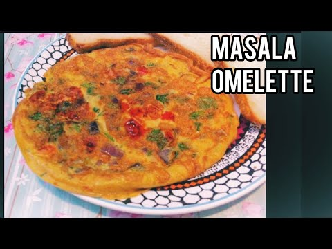 How to make Masala Egg Omelette or Spicy Egg Omlette