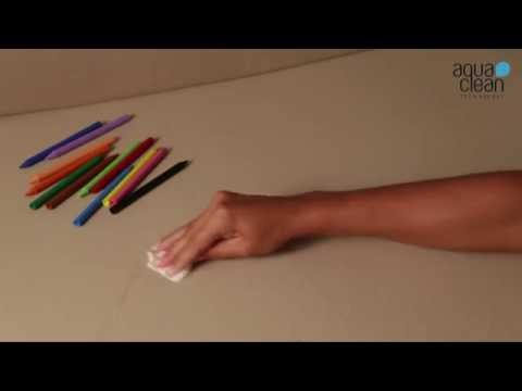 Removing Marker Pen with Aqua Clean Fabric Technology