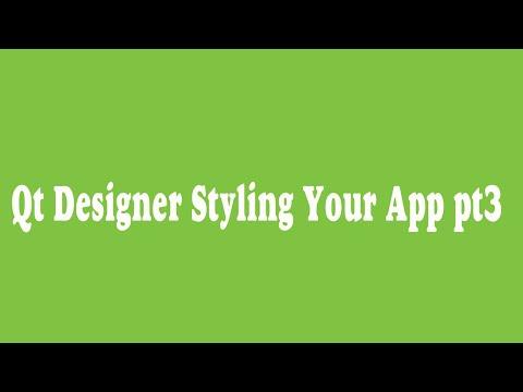 38 _ Qt Designer Styling Your App pt3 (Arabic)