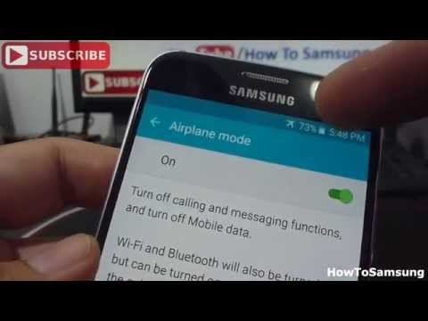 How to turn airplane mode on and off Samsung Galaxy S6 Basic Tutorials