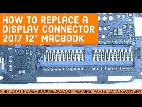 Macbook Display Connector Replacement 2017 12