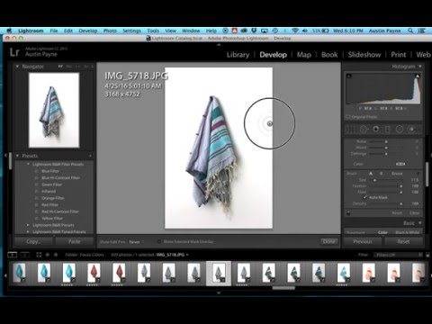 How to create a white background for multiple photos at once - Lightroom