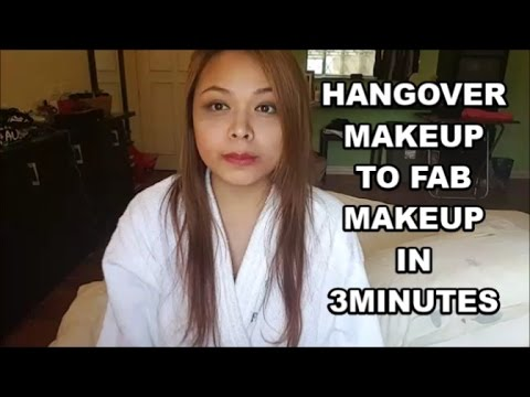 How to fix your hangover makeup in 3 minutes!