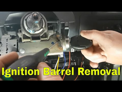 How to: Ford Mondeo MK3 Ignition barrel removal ST220