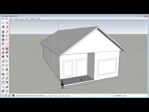 Sketchup Fast 3D House Tutorial (Basic)