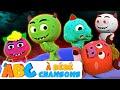 Cinq Monstres Drôle | Comptines Et Chansons | Chansons d'Halloween Pour Les Enfants