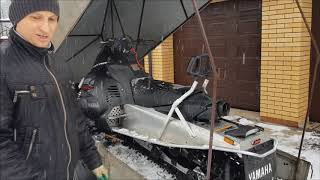 Доработка прицепа под снегоход. Погрузка снегохода в прицеп.