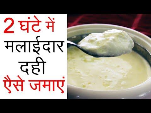 दही जमाने का सही तरीका | Indian Dahi Recipe in Hindi | How to make Homemade Curd