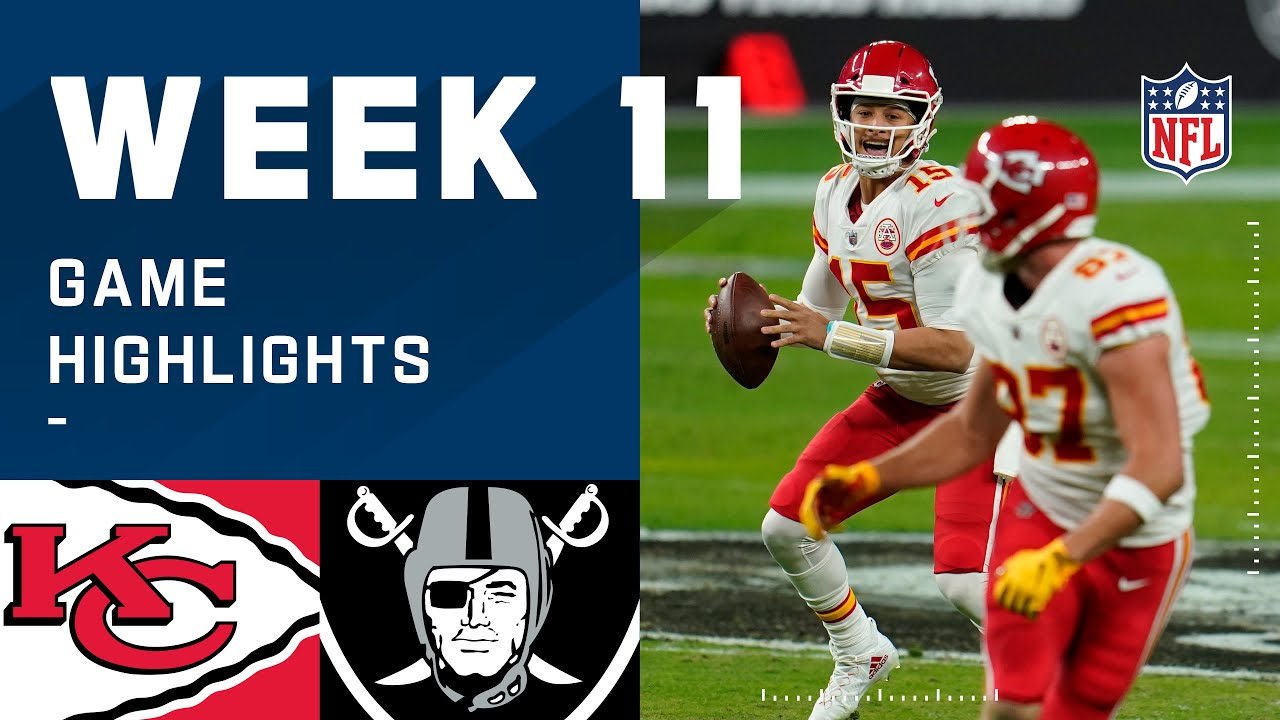 Chiefs vs. Raiders Week 11 Highlights | NFL 2020