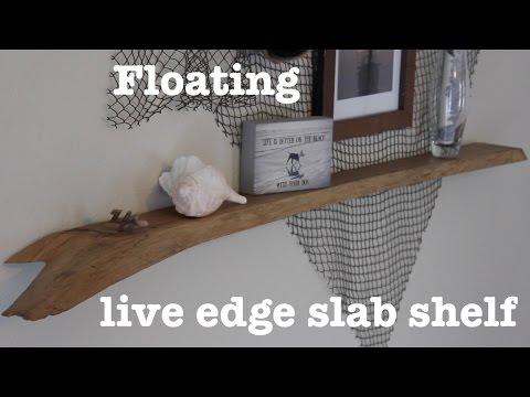 Floating live edge shelf | How-To