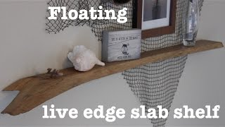 Floating live edge shelf | How-To