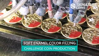 Soft Enamel Color Filling - Challenge Coin Production - Signature Coins