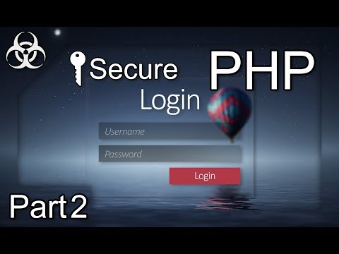 Secure Login Form Authentication System (Cookies, Sessions, Token, PDO) PHP & MySQL Tutorial Part 2