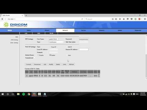 Setup Wireless Password in Digicom ADSL Router