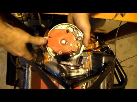How to install a distributor in a small block chevy the easy way.