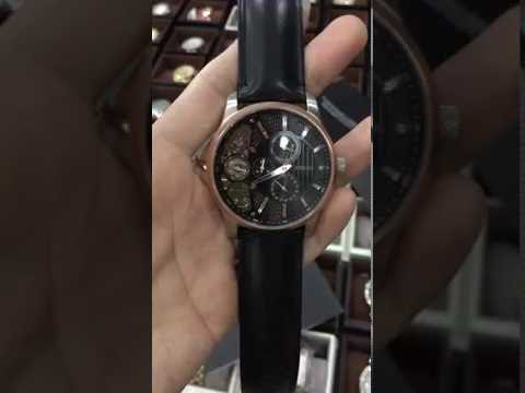 FOSSIL ME1099 Mechanical Twist Black Leather 42mm Skeleton Men's Watch