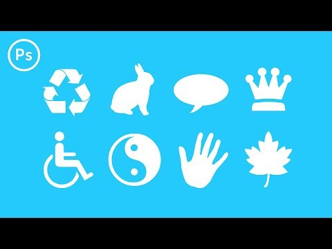How to Create Custom Shapes & Symbols | Photoshop CC Tutorial