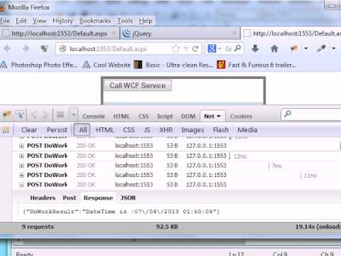 how to call wcf service using jquery