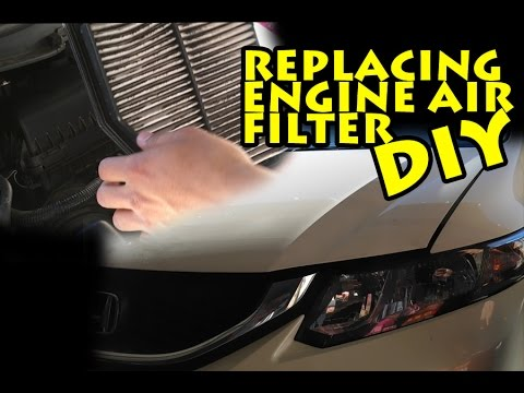 HOW TO CHANGE 2015 HONDA CIVIC ENGINE AIR FILTER (2006-2015)