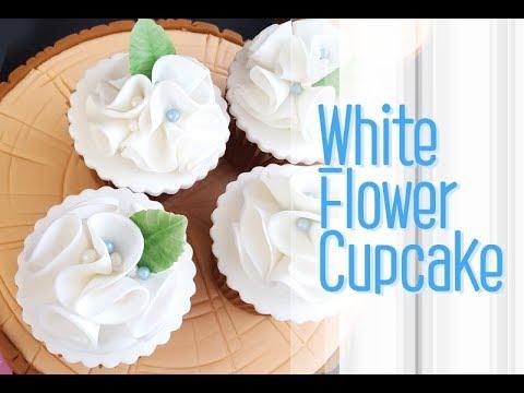::cupcake::white flower cupcake화이트플라워 컵케이크