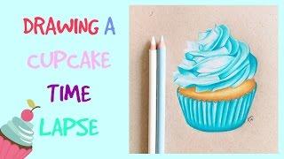 Drawing A Cupcake Time Lapse | Artistx