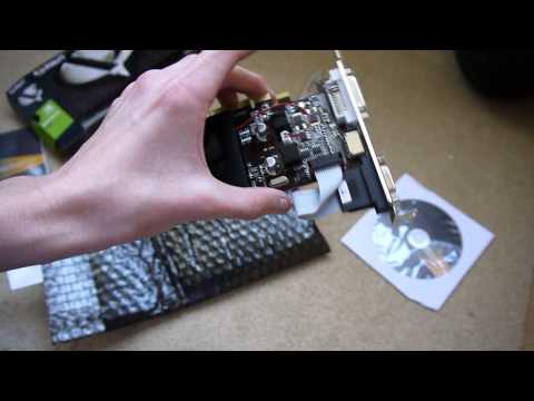 NVIDIA GEFORCE 210 Graphics Card Unboxing, PC Setting Up