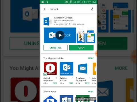 How to setup email(hosted) on Outlook app