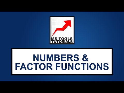 Numbers And Factor Functions - Excel Functions | MS Tools Tutorials