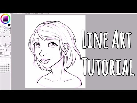 Paint Tool SAI Tutorial For Beginners - How to Line Art
