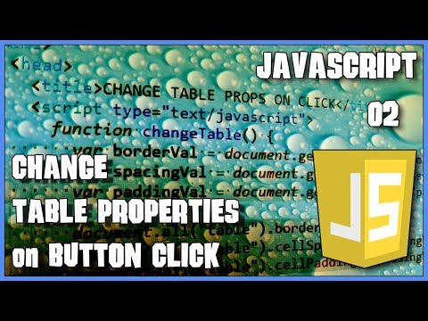 JAVASCRIPT Change table properties on click