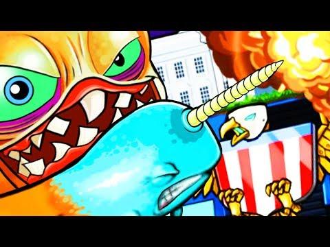 NARWHAL OCTOPUS TENTACLE vs WHITE HOUSE MONSTER! - Octogeddon Part 8   Pungence