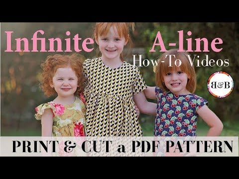 Infinite A-line Dress: Print & Cut Pattern