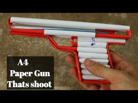 How to make paper guns easy for kids