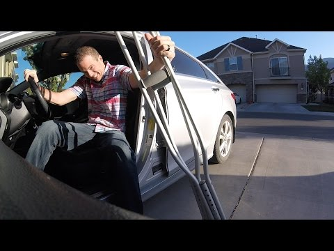DRIVING with a BROKEN LEG!
