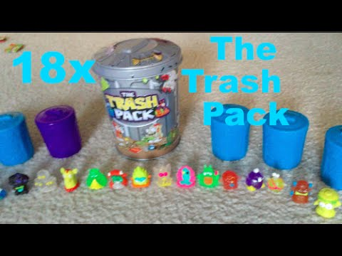 Trash Pack opening/unboxing 18 trashies