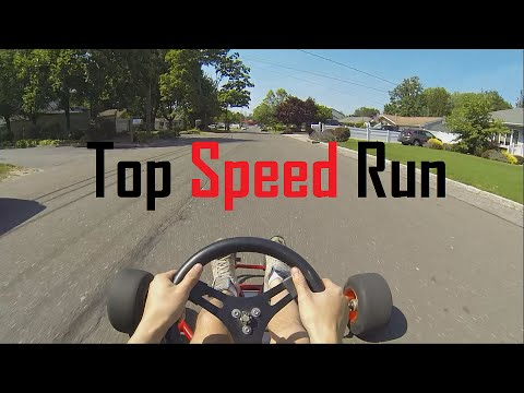 First Test Drive and Top Speed Run - Go Kart Build Part 2