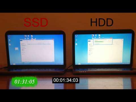 SSD vs HDD (Laptopkalauz speed test)