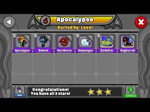 How to breed all the Apocalypse and Dream dragons in Dragonvale!