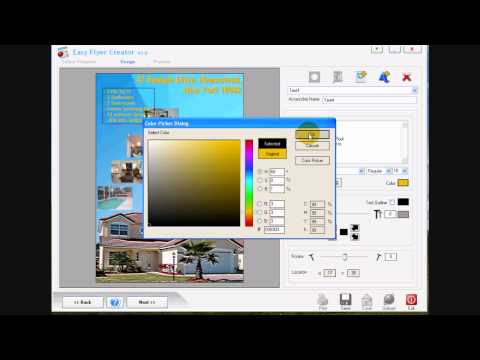 How to Make Flyers Using Advanced Options in Easy Flyer Creator